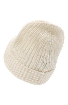 Женская кашемировая шапка VALENTINO кремвого цвета, арт. WW2HB00P/ADQ   Фото 2 (Материал: Шерсть, Кашемир)