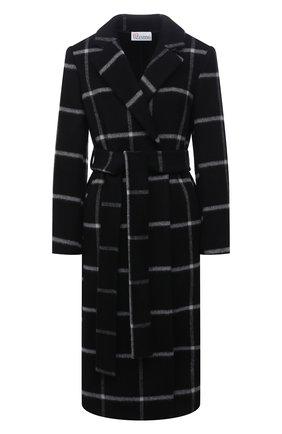 Женское пальто REDVALENTINO черного цвета, арт. WR3CAD75/5Y9   Фото 1