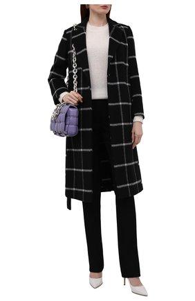 Женское пальто REDVALENTINO черного цвета, арт. WR3CAD75/5Y9   Фото 2