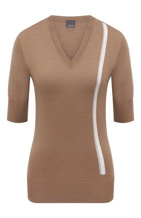 Женский шерстяной пуловер LORENA ANTONIAZZI бежевого цвета, арт. A21104TM002/2471 | Фото 1