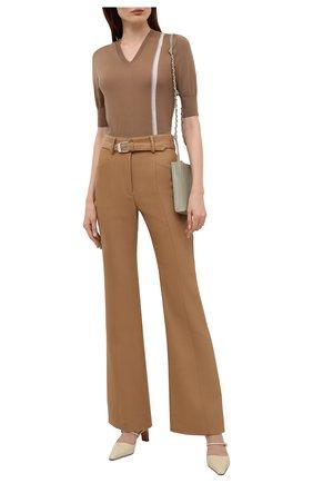 Женский шерстяной пуловер LORENA ANTONIAZZI бежевого цвета, арт. A21104TM002/2471 | Фото 2