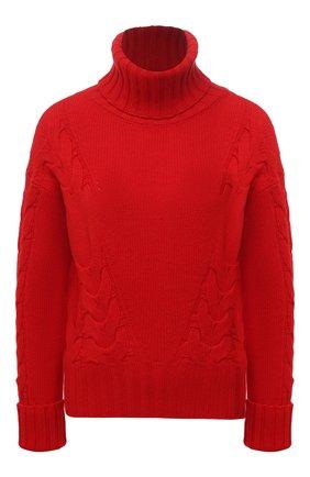 Женский свитер из шерсти и кашемира LORENA ANTONIAZZI красного цвета, арт. A21130DM020/1906 | Фото 1