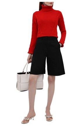 Женский свитер из шерсти и кашемира LORENA ANTONIAZZI красного цвета, арт. A21130DM020/1906 | Фото 2