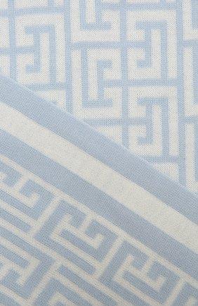 Женский шерстяной шарф BALMAIN светло-голубого цвета, арт. WF1XG000/K297   Фото 2 (Материал: Шерсть)