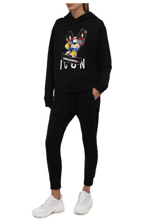 Женский хлопковое худи DSQUARED2 черного цвета, арт. S80GU0050/S25042 | Фото 2