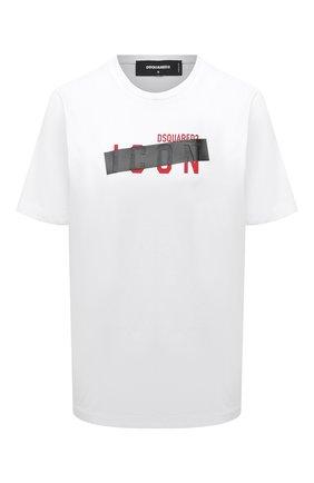 Женская хлопковая футболка DSQUARED2 белого цвета, арт. S80GC0029/S23009 | Фото 1