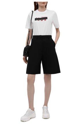 Женская хлопковая футболка DSQUARED2 белого цвета, арт. S80GC0029/S23009 | Фото 2