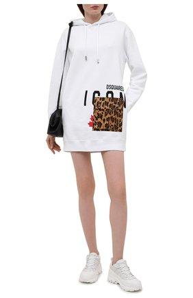 Женское хлопковое платье DSQUARED2 белого цвета, арт. S80CT0010/S25042 | Фото 2