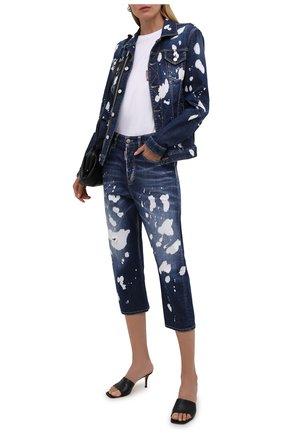 Женские джинсы DSQUARED2 темно-синего цвета, арт. S75LB0526/S30342 | Фото 2