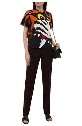 Женская хлопковая футболка DSQUARED2 разноцветного цвета, арт. S75GD0222/S23009 | Фото 2