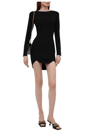 Женское платье из вискозы DSQUARED2 черного цвета, арт. S75CV0447/S17803 | Фото 2