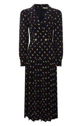 Женское шелковое платье ALESSANDRA RICH черного цвета, арт. FAB2614-F3253   Фото 1