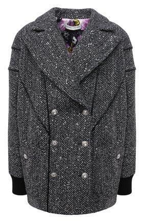 Женское пальто ALESSANDRA RICH черно-белого цвета, арт. FAB2657-F3188   Фото 1