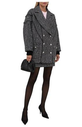 Женское пальто ALESSANDRA RICH черно-белого цвета, арт. FAB2657-F3188   Фото 2