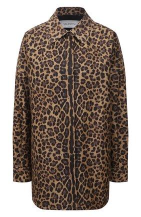 Женская хлопковая куртка VALENTINO леопардового цвета, арт. WB3CI0R76NB | Фото 1