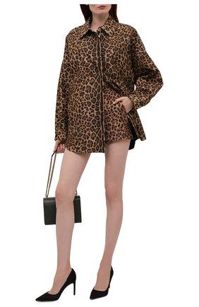 Женская хлопковая куртка VALENTINO леопардового цвета, арт. WB3CI0R76NB | Фото 2