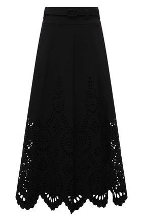 Женская юбка из шерсти и шелка VALENTINO черного цвета, арт. WB3RA7U16GR | Фото 1
