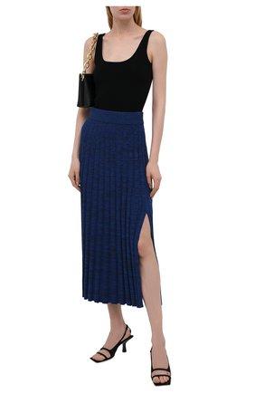 Женская юбка из вискозы JOSEPH синего цвета, арт. JF005361   Фото 2