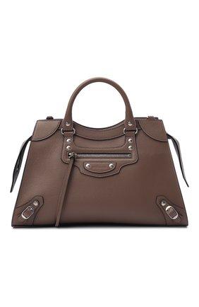 Женская сумка neo classic city BALENCIAGA светло-коричневого цвета, арт. 654907/15Y4Y | Фото 1 (Материал: Натуральная кожа; Сумки-технические: Сумки top-handle; Размер: large; Ремень/цепочка: На ремешке)