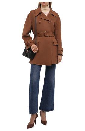 Женское кашемировое пальто LORO PIANA коричневого цвета, арт. FAL7572   Фото 2
