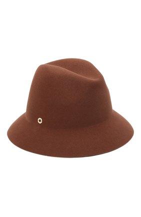 Женская фетровая шляпа ingrid LORO PIANA коричневого цвета, арт. FAL3434 | Фото 1 (Материал: Шерсть)