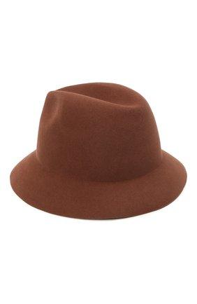 Женская фетровая шляпа ingrid LORO PIANA коричневого цвета, арт. FAL3434 | Фото 2 (Материал: Шерсть)