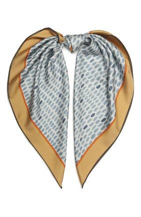 Женская шелковая шаль LORO PIANA голубого цвета, арт. FAL7621   Фото 1