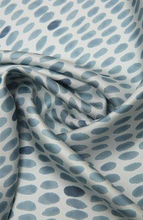 Женская шелковая шаль LORO PIANA голубого цвета, арт. FAL7621   Фото 2
