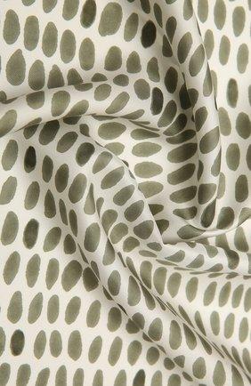 Женская шелковая шаль LORO PIANA зеленого цвета, арт. FAL7621 | Фото 2 (Материал: Текстиль)