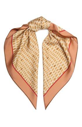 Женская шелковая шаль LORO PIANA бежевого цвета, арт. FAL7621   Фото 1