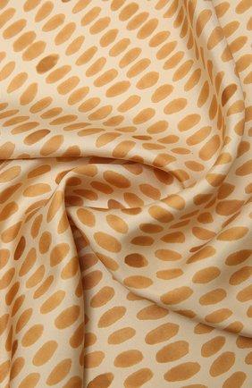 Женская шелковая шаль LORO PIANA бежевого цвета, арт. FAL7621   Фото 2