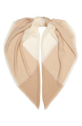 Женская шаль из кашемира и шелка LORO PIANA светло-бежевого цвета, арт. FAL7664   Фото 1