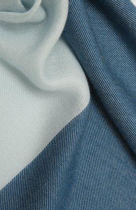 Женская шаль из кашемира и шелка LORO PIANA голубого цвета, арт. FAL7667 | Фото 2