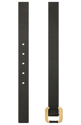 Женский кожаный ремень LORO PIANA черного цвета, арт. FAL8226   Фото 2 (Кросс-КТ: Широкие)