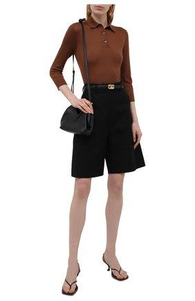 Женское поло из кашемира и шелка LORO PIANA коричневого цвета, арт. FAL9275   Фото 2