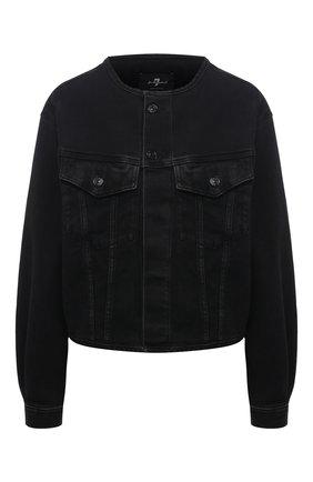 Женская джинсовая куртка 7 FOR ALL MANKIND черного цвета, арт. JSK4B340FA   Фото 1