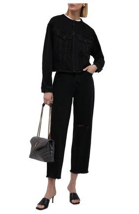 Женская джинсовая куртка 7 FOR ALL MANKIND черного цвета, арт. JSK4B340FA   Фото 2