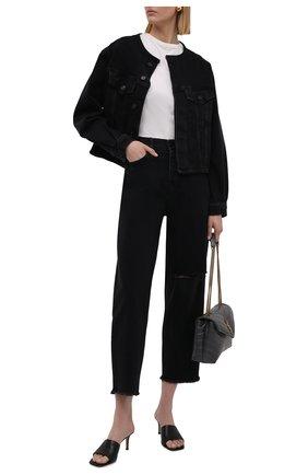 Женские джинсы 7 FOR ALL MANKIND черного цвета, арт. JSDYB34TFD | Фото 2