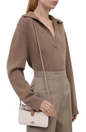 Женская сумка pop-up messenger COACH кремвого цвета, арт. 31864   Фото 2