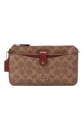 Женская сумка pop-up messenger COACH коричневого цвета, арт. 37458   Фото 1