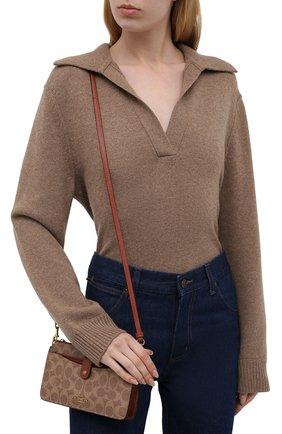 Женская сумка pop-up messenger COACH коричневого цвета, арт. 37458   Фото 2