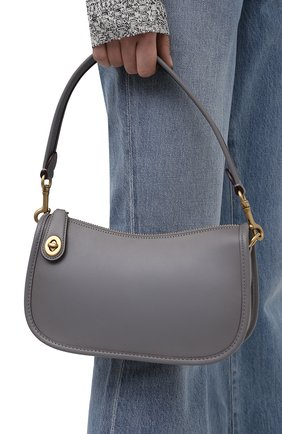 Женская сумка swinger COACH серого цвета, арт. C0638   Фото 2