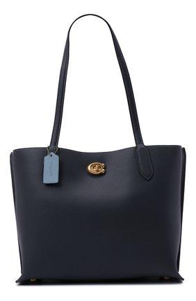 Женский сумка-тоут willow COACH темно-синего цвета, арт. C0691   Фото 1