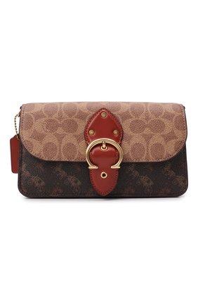 Женская сумка beat COACH коричневого цвета, арт. C0831   Фото 1