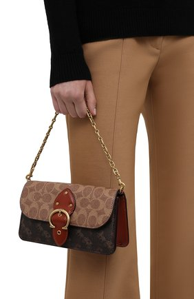 Женская сумка beat COACH коричневого цвета, арт. C0831   Фото 2