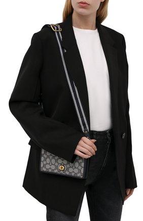 Женская сумка hayden COACH темно-синего цвета, арт. C3824   Фото 2