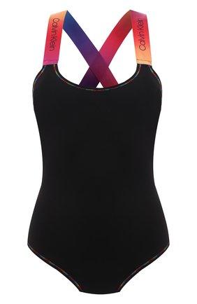Женское боди CALVIN KLEIN черного цвета, арт. QF6582E | Фото 1