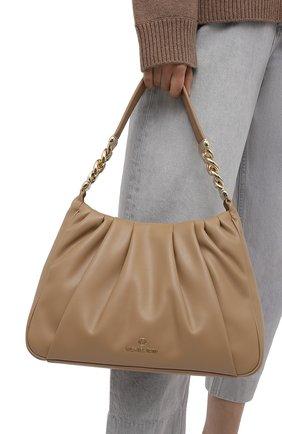 Женская сумка hannah medium MICHAEL MICHAEL KORS бежевого цвета, арт. 30T1LNNL2U | Фото 2
