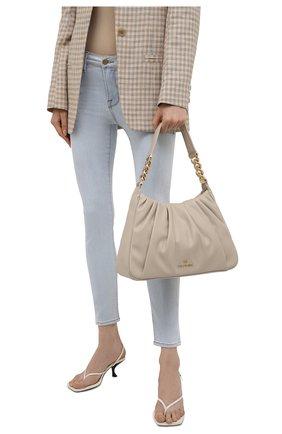 Женская сумка hannah medium MICHAEL MICHAEL KORS светло-бежевого цвета, арт. 30T1GNNL2U | Фото 2