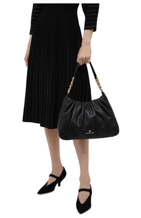 Женская сумка hannah medium MICHAEL MICHAEL KORS черного цвета, арт. 30T1GNNL2U | Фото 2